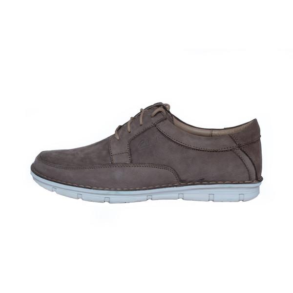 کفش روزمره مردانه ساینا چرم مدل M108 dusty