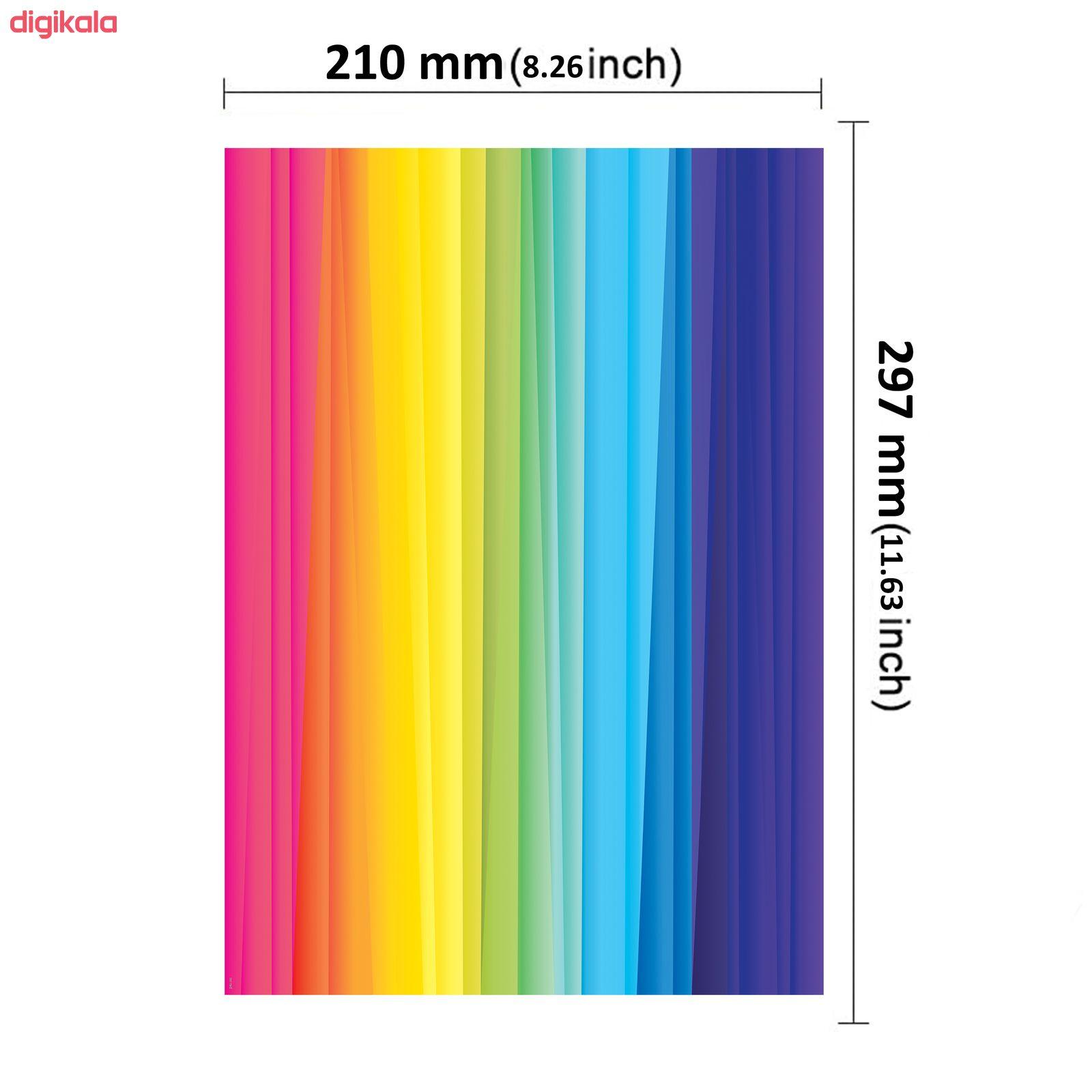 کاغذ رنگی A4 مستر راد مدل رنگارنگ بسته 10 عددی main 1 2