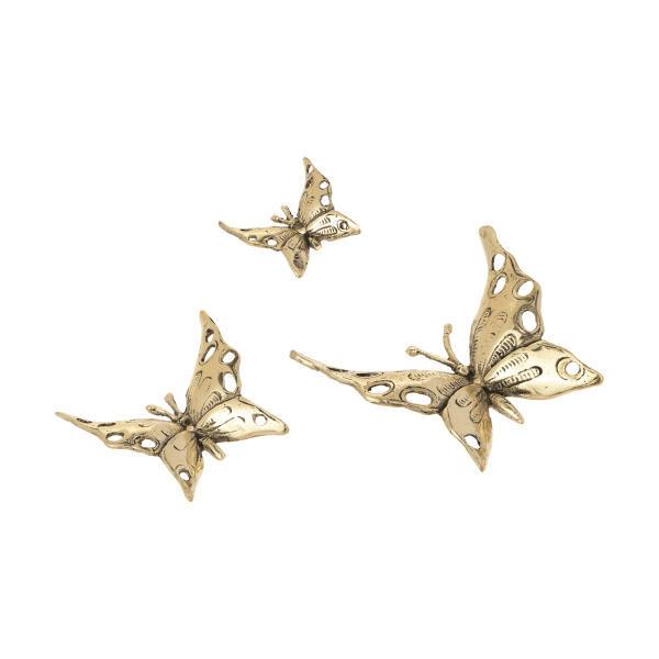 دکوری برنجی مدل پروانه کد 026 مجموعه 3 عددی