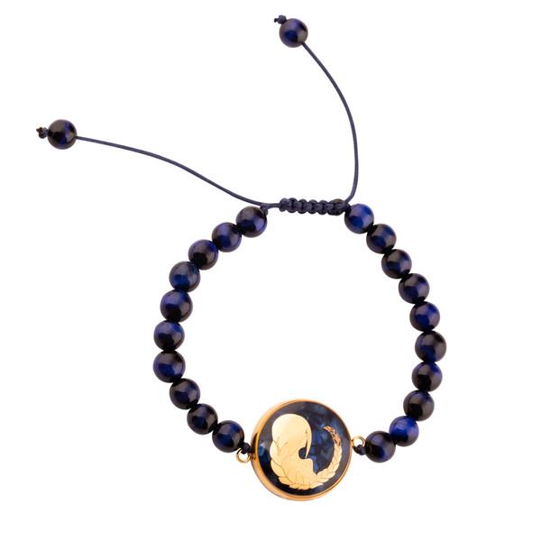 دستبند زنانه الون طرح ماه شهریور کد TIG102