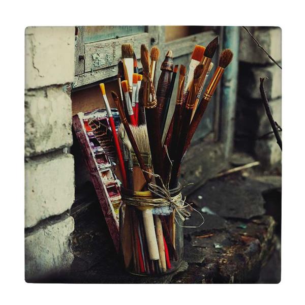 کاشی طرح پالت رنگ و قلمو ها کد wk4110