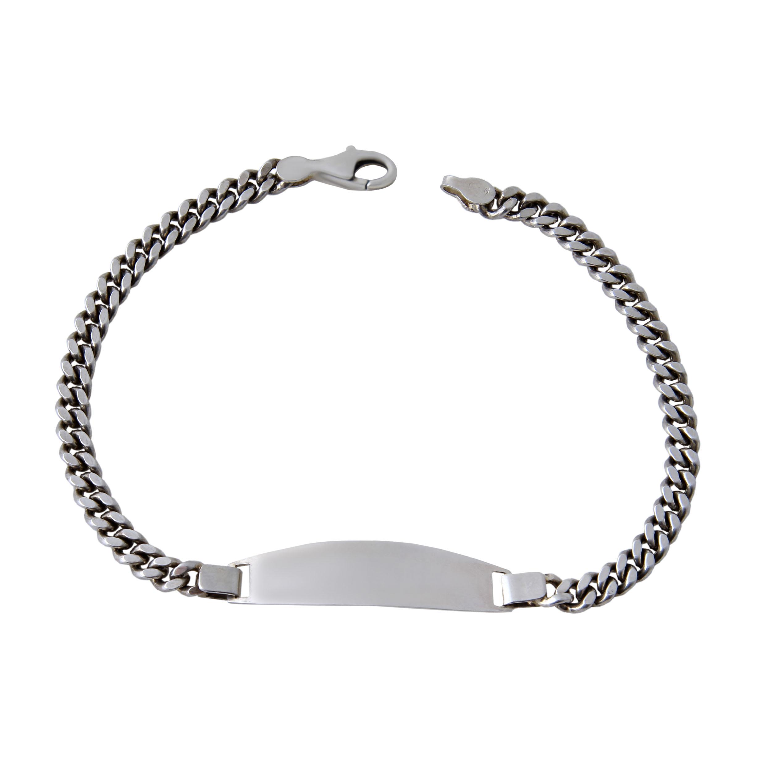 دستبند نقره مردانه بازرگانی میلادی کد DP_105