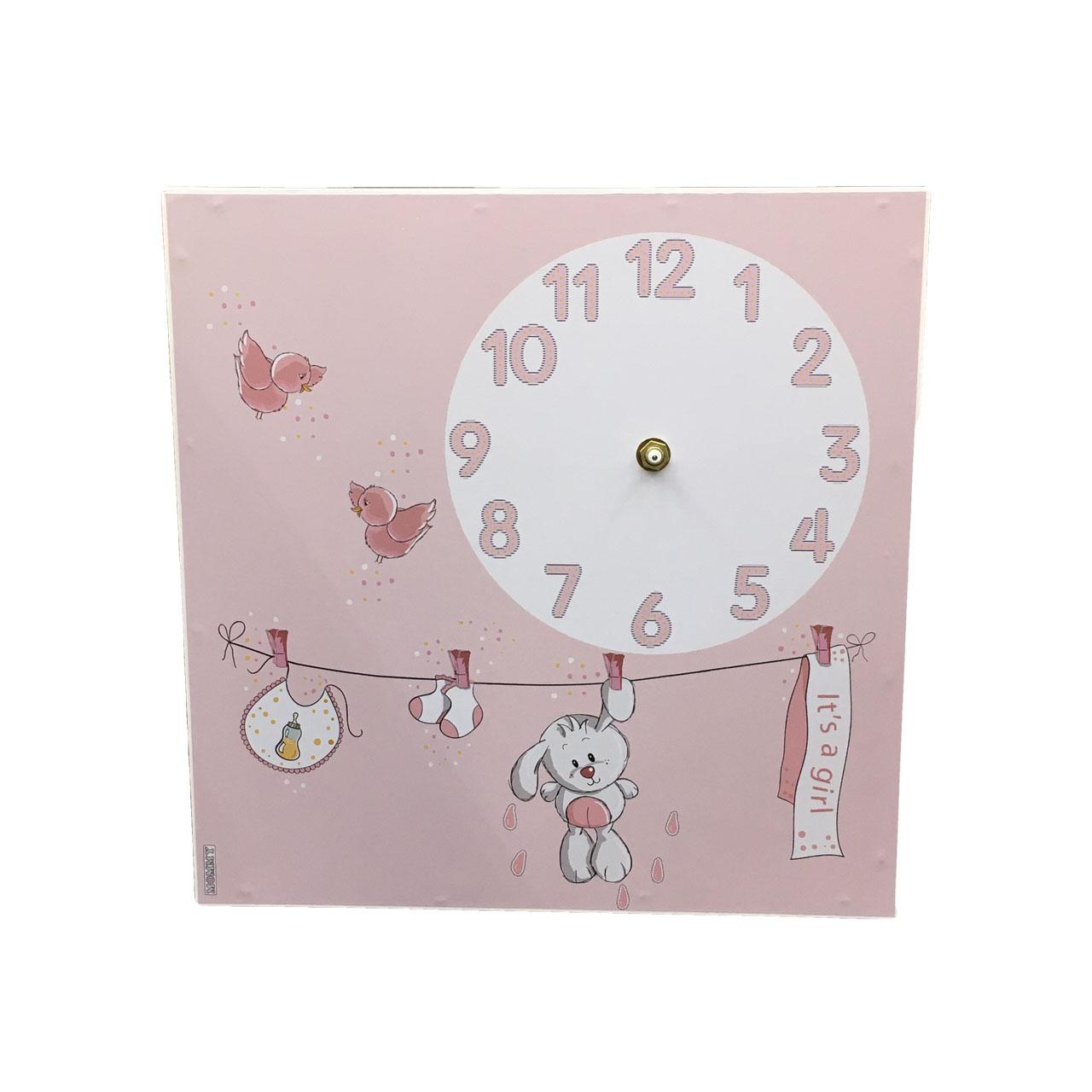 ساعت دیواری کودک طرح خرگوش مدل 3333