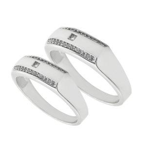 ست انگشتر نقره زنانه و مردانه مدل sfsd3456