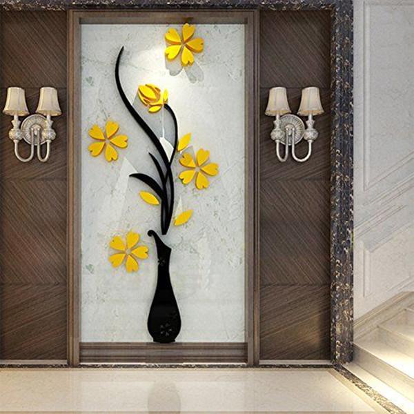استیکر مدل گل و گلدان کد 2023