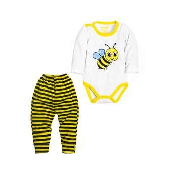 ست بادی و شلوار نوزادی مدل زنبور کد 98