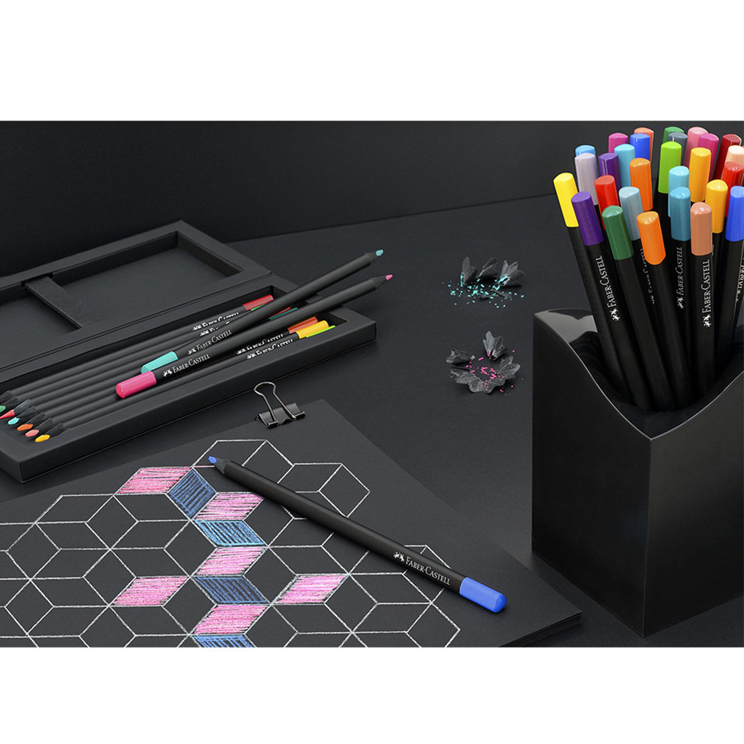 مداد رنگی  12 رنگ فابر کاستلمدل بلک ادیشن