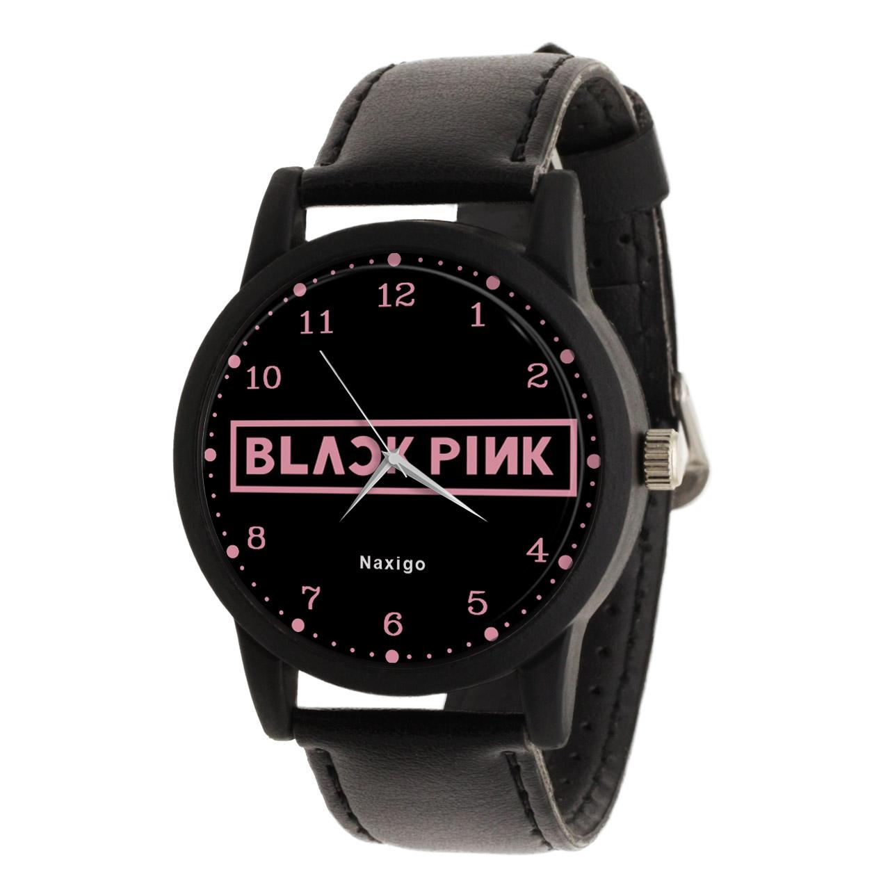 ساعت مچی عقربه ای ناکسیگو طرح Black Pink کد LF4172