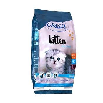 غذای خشک بچه گربه گرند مدل Kitten وزن 2 کیلوگرم