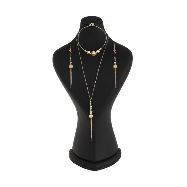 نیم ست طلا 18 عیار زنانه گالری یارطلا کد NS17