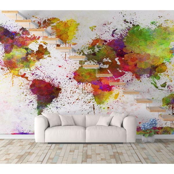 پوستر دیواری طرح نقشه جهان کد 20072020