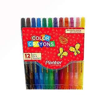 مداد شمعی 12 رنگ پنتر مدل RC 101-12