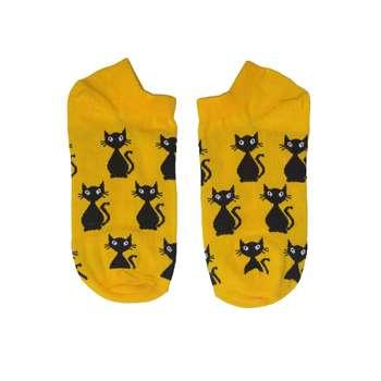جوراب زنانه طرح گربه ایستاده کد 10011