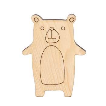 اسباب بازی چوبی مدل خرس