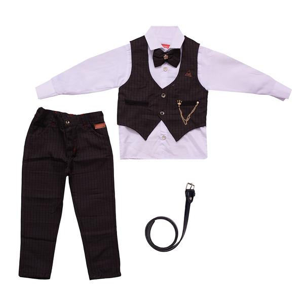 ست 5 تکه لباس پسرانه مدل  MA-SP81095-SET.RS.P-GHAH رنگ قهوه ای