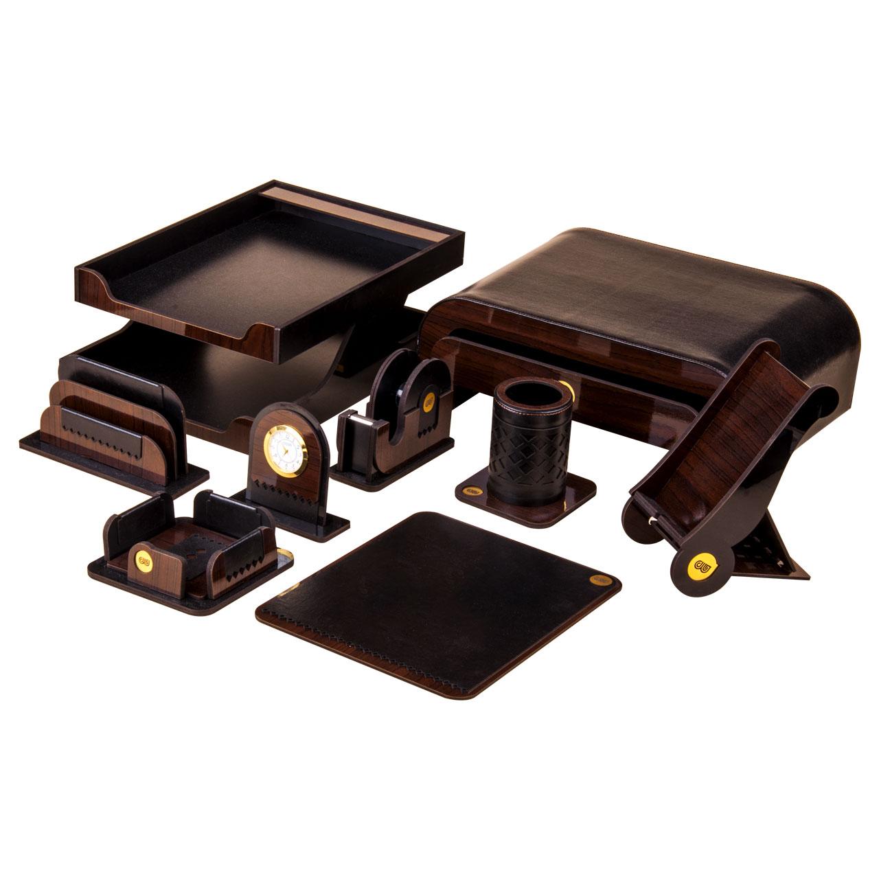 قیمت خرید ست لوازم اداری رومیزی حال مدل ZJ909 مجموعه 9 عددی اورجینال