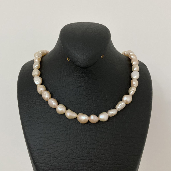 گردنبند طلا 18 عیار زنانه الماسین آذر مدل Baroqgol02