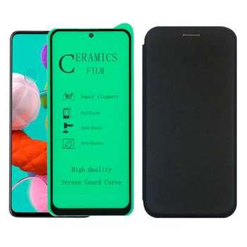 کیف کلاسوری بلوفاکس مدل BMGNT-CER1 مناسب برای گوشی موبایل سامسونگ Galaxy A71 به همراه محافظ صفحه نمایش