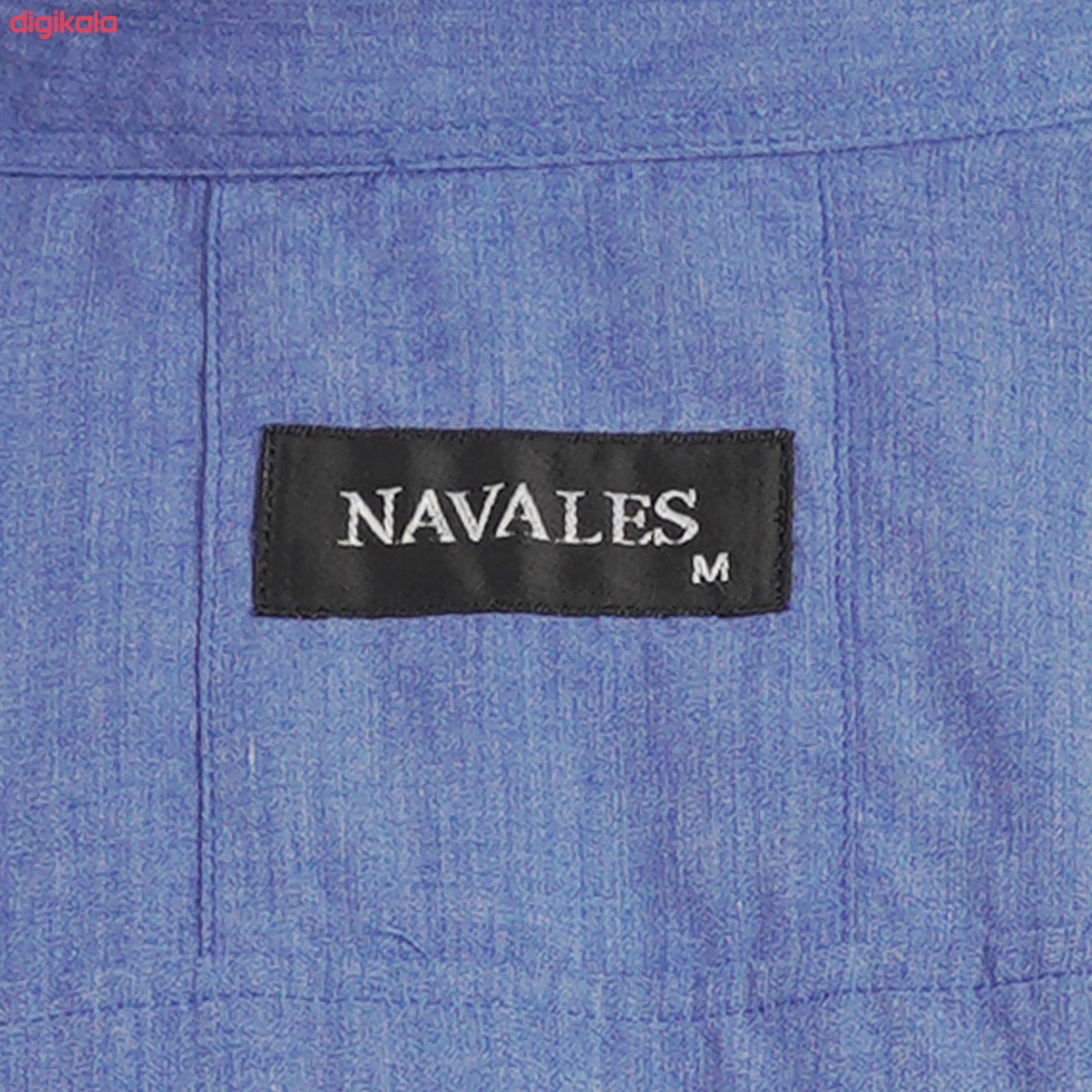 پیراهن آستین بلند مردانه ناوالس مدل MLANZH-BL main 1 5