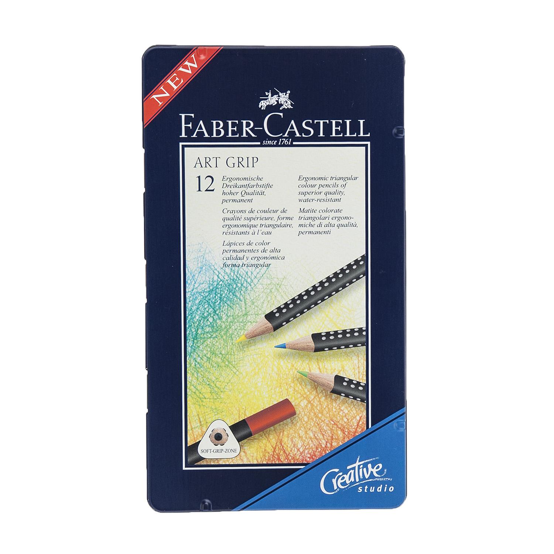 مداد رنگی 12 رنگ فابر کاستل مدل Art Grip