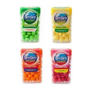 قرص خوشبو کننده دهان سیم سیم مدل vitamin C مجموعه 4 عددی