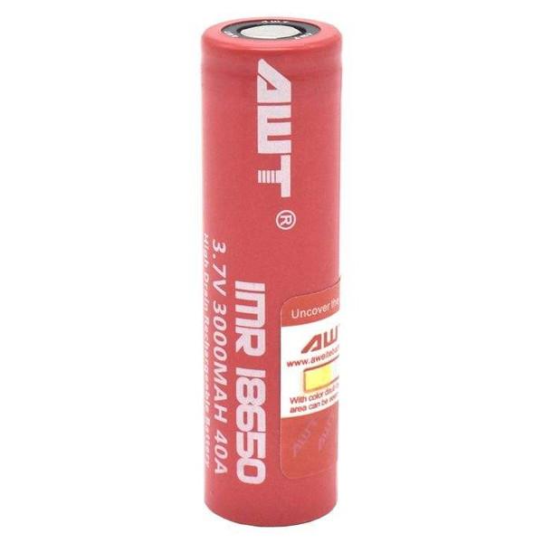 باتری لیتیوم یون قابل شارژ  ای دبلیو تیمدل IMR 18650 ظرفیت 3000 میلی آمپر ساعت