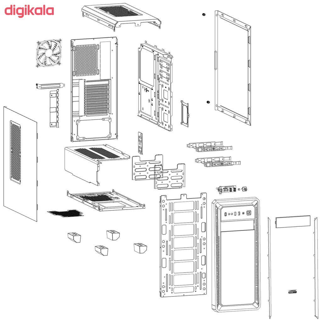 کیس کامپیوتر گرین مدل PARS EVO main 1 16
