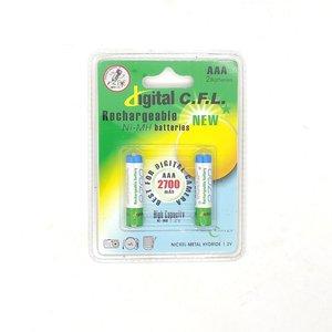 باتری نیم قلمی شارژی دیجیتال سی اف ال کد 2700 بسته 2 عددی