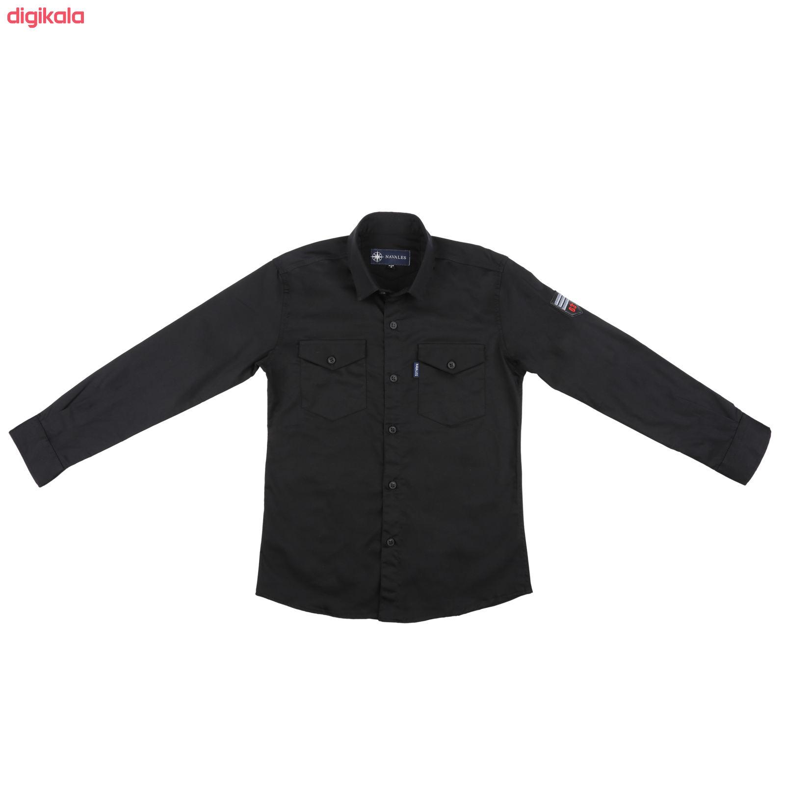 پیراهن پسرانه ناوالس کد 20119-BK main 1 1