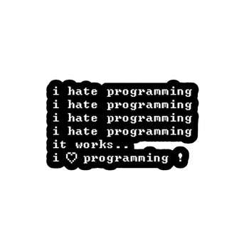 استیکر لپ تاپ لولو طرح برنامه نویسی کد 211