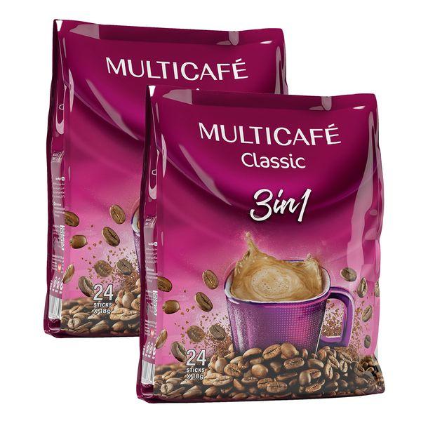 کافی میکس 3 در 1 مولتی کافه بسته 48 عددی
