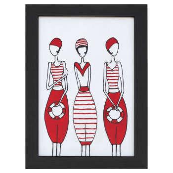 تابلو ویترای طرح سه دختر