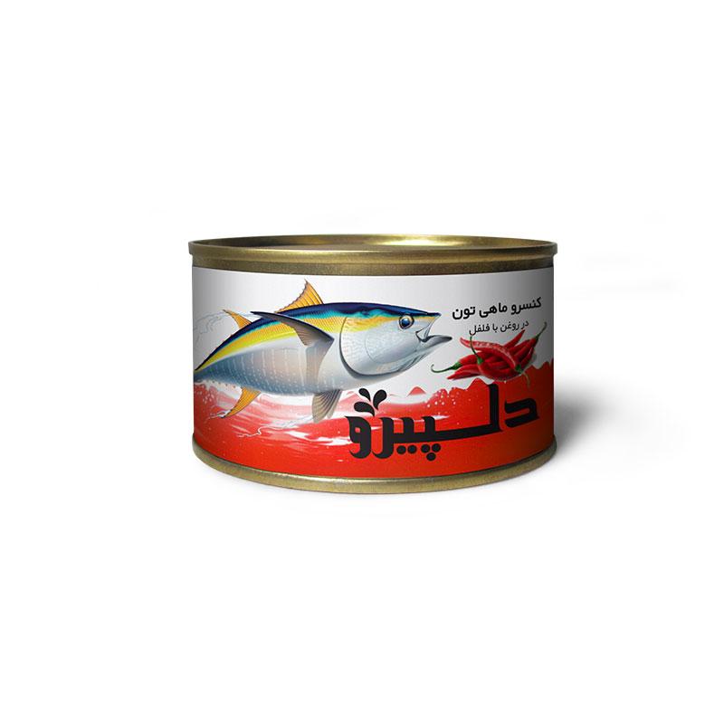 کنسرو ماهی تون فلفلی دلپیرو - ۱۸۰ گرم