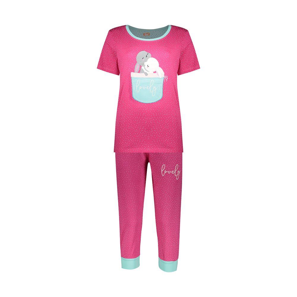 ست تی شرت و شلوارک راحتی زنانه مادر مدل 2041102-66