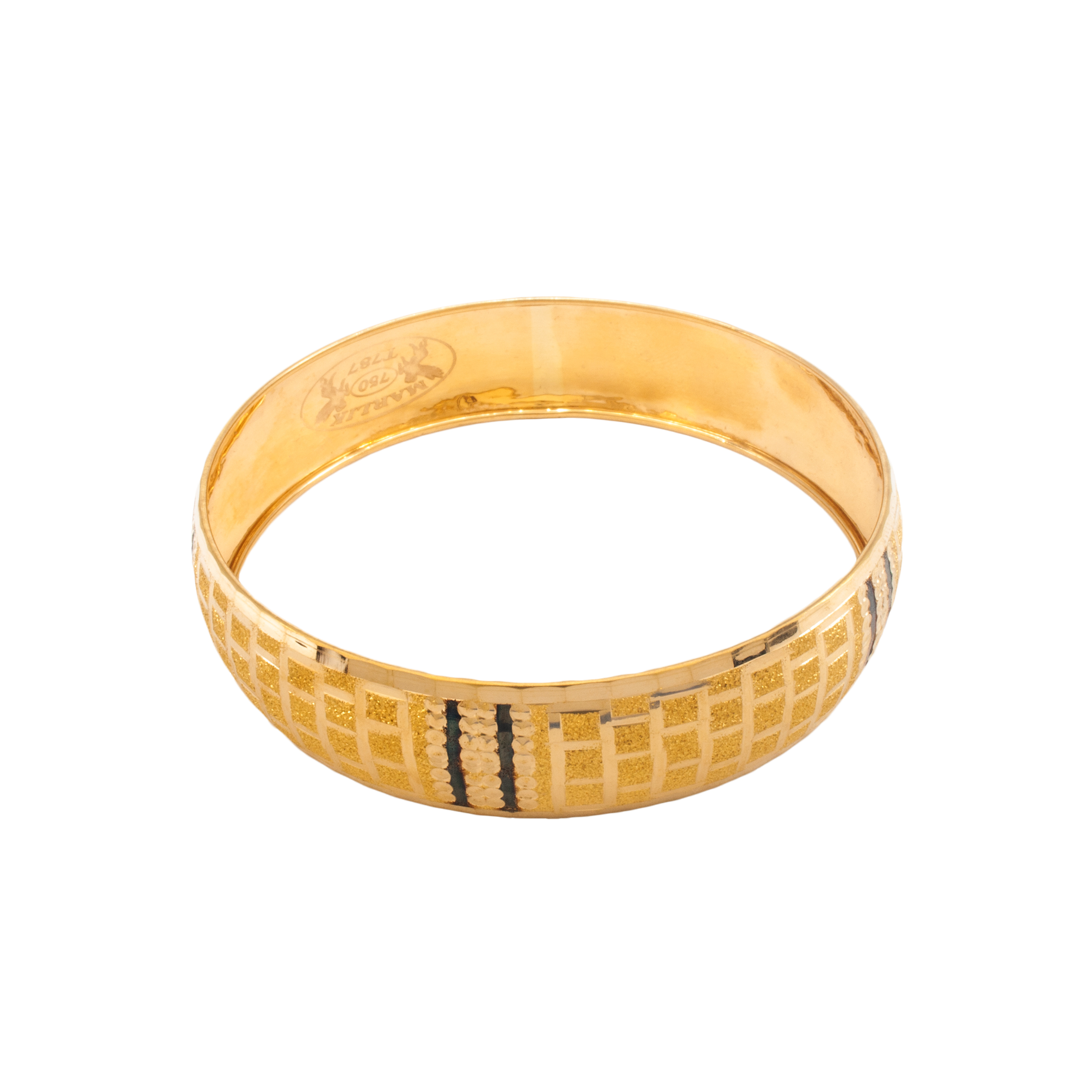 النگو طلا ۱۸ عیار زنانه دُرج مدل VB05-1