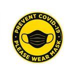 برچسب ایمنی ماسا دیزاین طرح لطفا ماسک بزنید مدل CV010