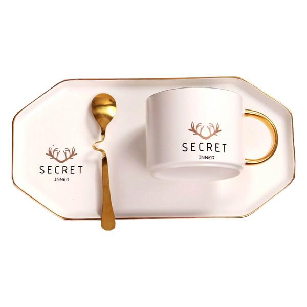 ست فنجان و نعلبکی 3 پارچه مدل Secret
