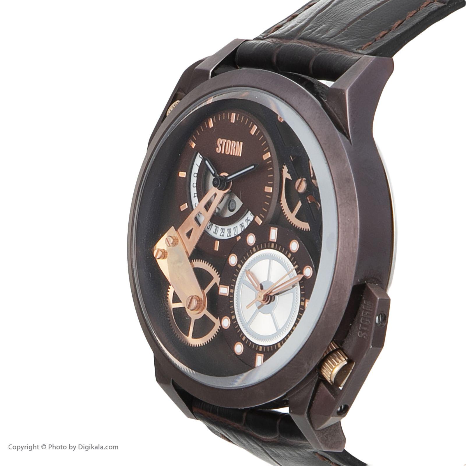 ساعت مچی عقربه ای مردانه استورم مدل ST 47147-BR -  - 4