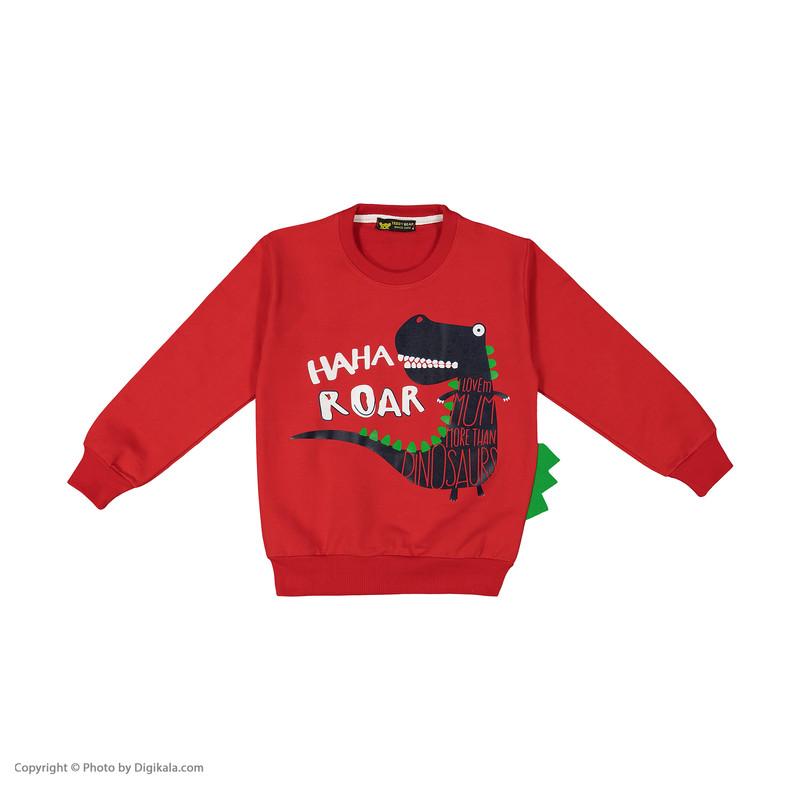 ست تی شرت و شلوار پسرانه خرس کوچولو مدل 2011162-72