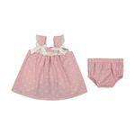 ست پیراهن و شورت نوزادی دخترانه فیورلا کد 2077