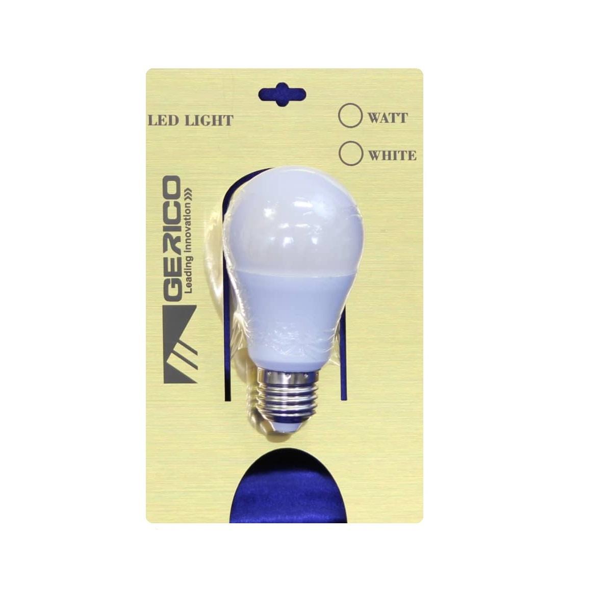 لامپ ال ای دی 9 وات جریکو مدل A60 پایه E27