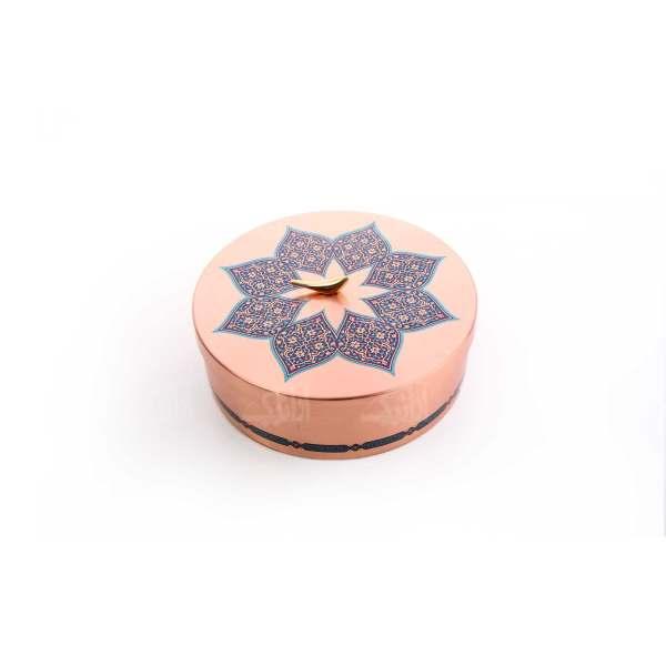 شکلات خوری دردار مسی با تزیین نقوش سنتی کد 1001200105