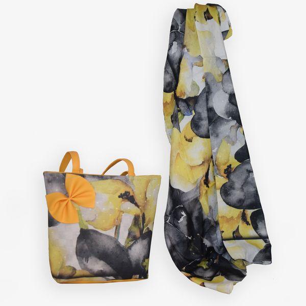 ست کیف و روسری زنانه مدل پاپیون دار کد AG25