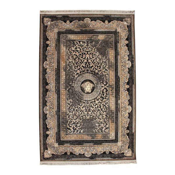 فرش ماشینی کد 90145 زمینه طوسی
