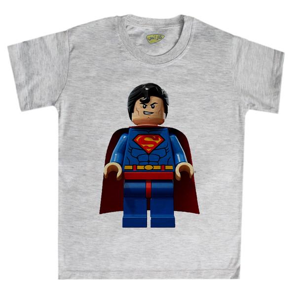 تی شرت پسرانه کارانس طرح لگو سوپرمن مدل BTM-1073