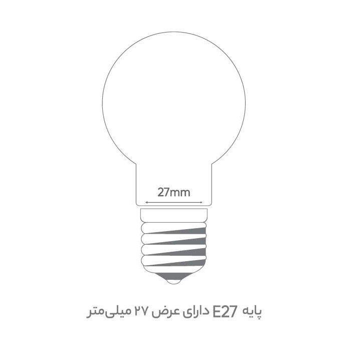 لامپ ال ای دی 18 وات پارسه شید کد 001 پایه E27 بسته 5 عددی