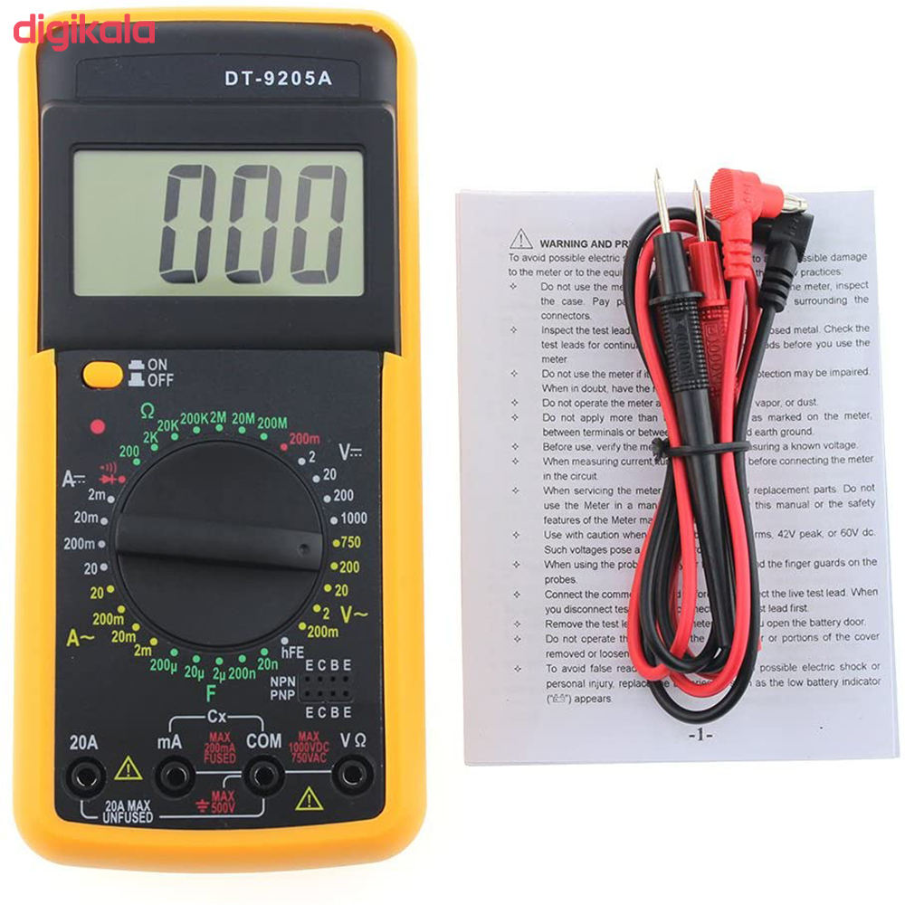 مولتی متر مدل DT9205A کد 9800 main 1 3