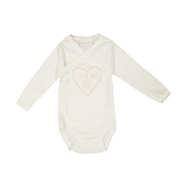بادی آستین بلند نوزادی لیندکس مدل قلب
