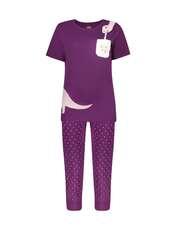 ست تی شرت و شلوارک راحتی زنانه مادر مدل 2041100-67 -  - 1