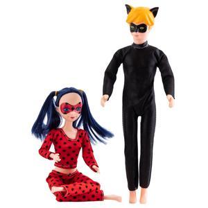 عروسک مدل دختر کفشدوزکی و پسر گربه ای کد 8810 ارتفاع 28 سانتی متر